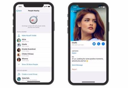 La nueva versión de Telegram permite ver los perfiles de personas cercanas