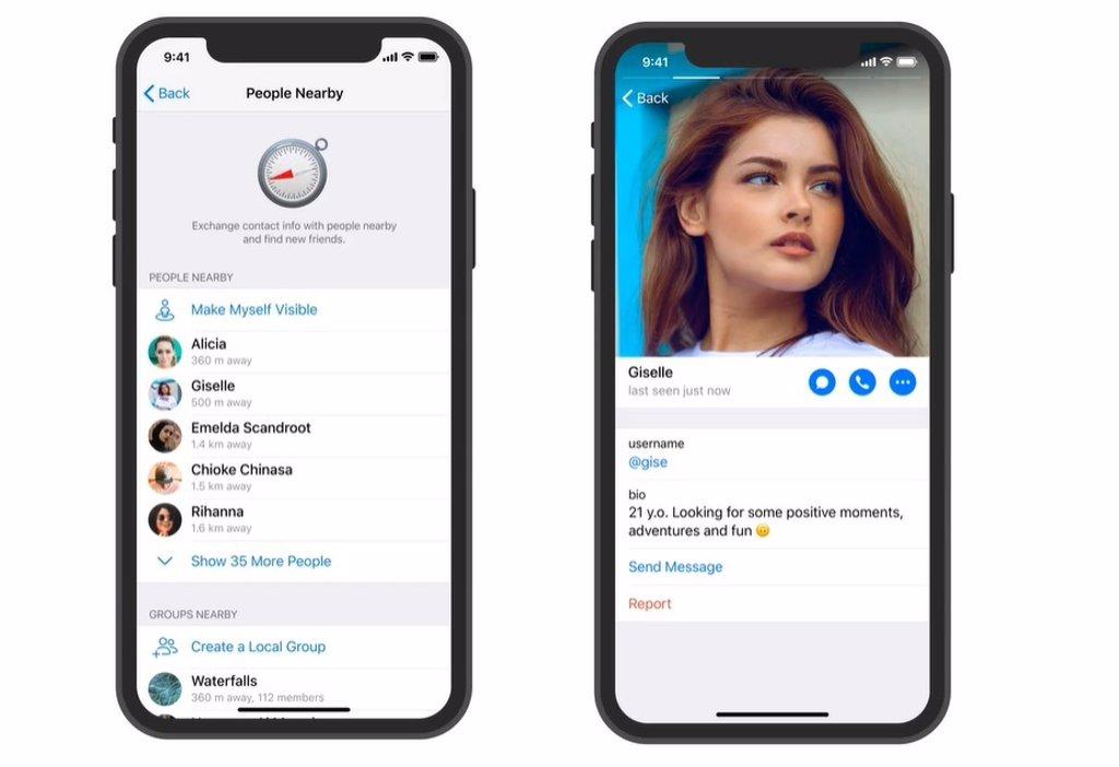 Portaltic.-La nueva versión de Telegram permite ver los perfiles de  personas cercanas