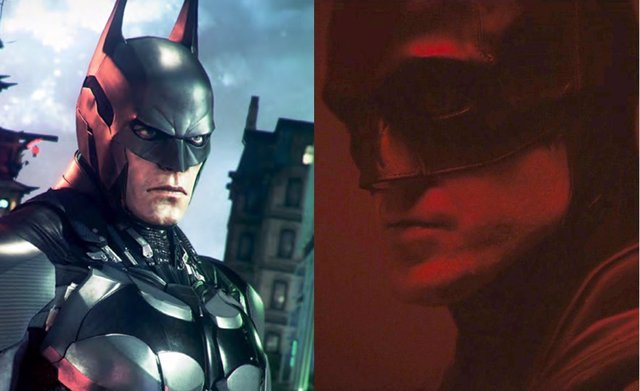 Vieojuego de Batman y el Batman de Robert Pattinson