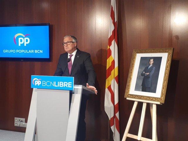 El líder del PP a Barcelona, Josep Bou.