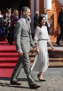 Los Reyes Felipe VI y doña Letizia