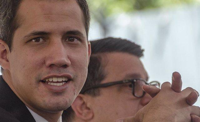 """L'autoproclamado """"president encarregat"""" de Veneçuela, Juan Guaidó"""
