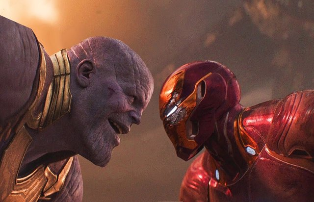 Thanos vs Iron Man en Vengadores: Endgame
