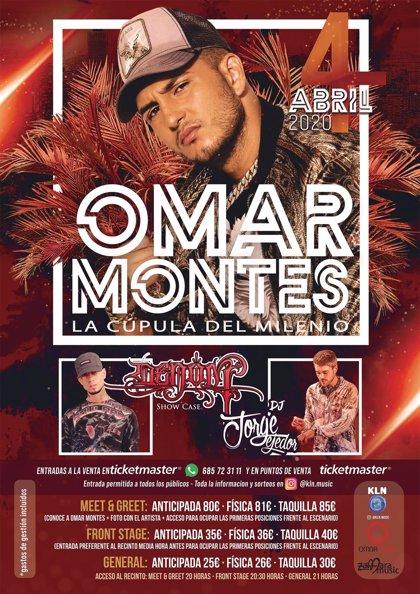 Omar Montes ofrecerá un concierto en Valladolid el 4 de abril en la Cúpula el Milenio
