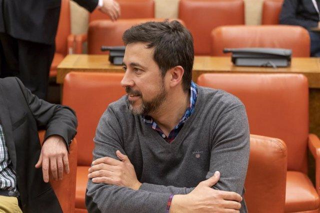 Antón Gómez-Reino, portavoz de Galicia en Común en el Congreso, en una foto en las Cortes Generales