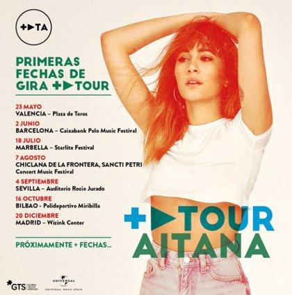 Aitana anuncia la continuación de su gira en 2020 con conciertos en Marbella, Chiclana y Sevilla