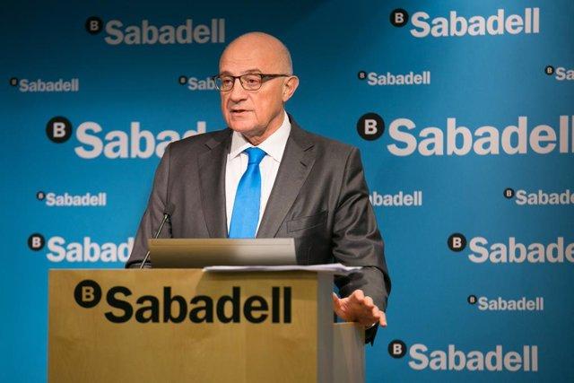 El president de Banc Sabadell, Josep Oliu.