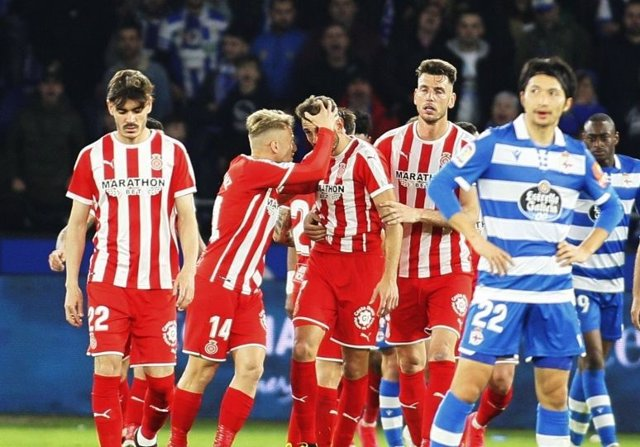 Stuani frustra la octava victoria consecutiva del Deportivo