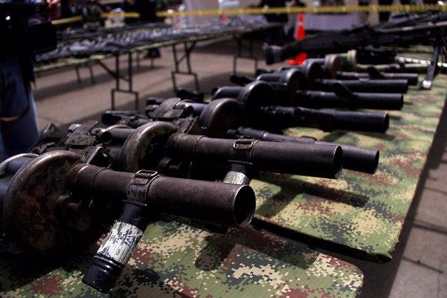 Imagen de varias armas en Colombia.