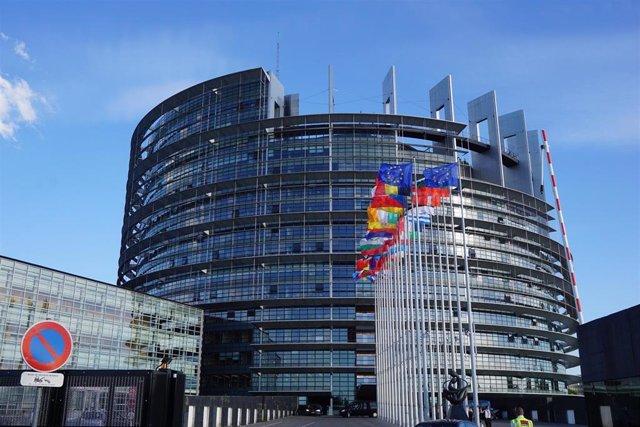 Exterior de la sede del Parlamento Europeo