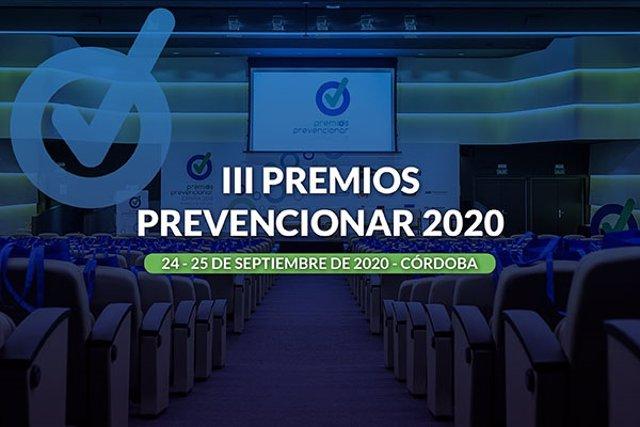 Cartel promocional de los III Premios Prevencionar España.