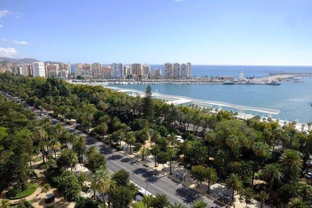 Vistas de la ciudad de Málaga