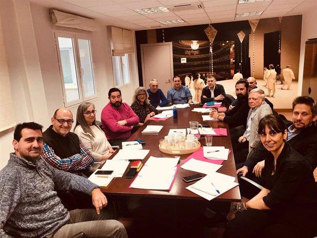 Reunión de personal técnico de la organización del Festival Castillo de Niebla en Madrid
