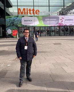 Antonio Jesús Rodríguez en la feria Biofach de Nuremberg