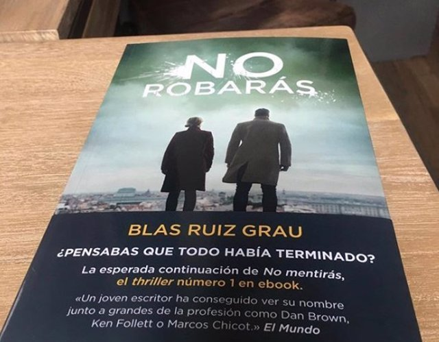 Portada de 'No robarás', de Blas Ruiz Grau