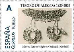 Sello dedicado al Tesoro de Aliseda.