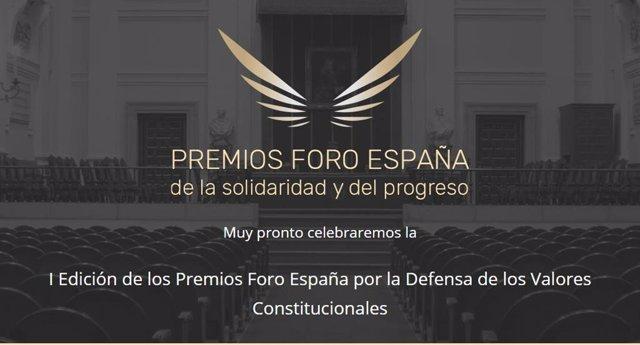 Cartel del Premio del Foro España de la Solidaridad y del Progreso