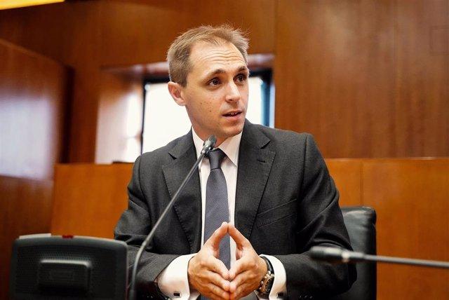 El portavoz de Educación, Cultura y Deporte de Cs, Carlos Trullén