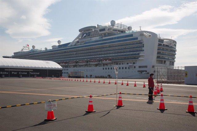 Imagen del crucero 'Diamond Princess'.