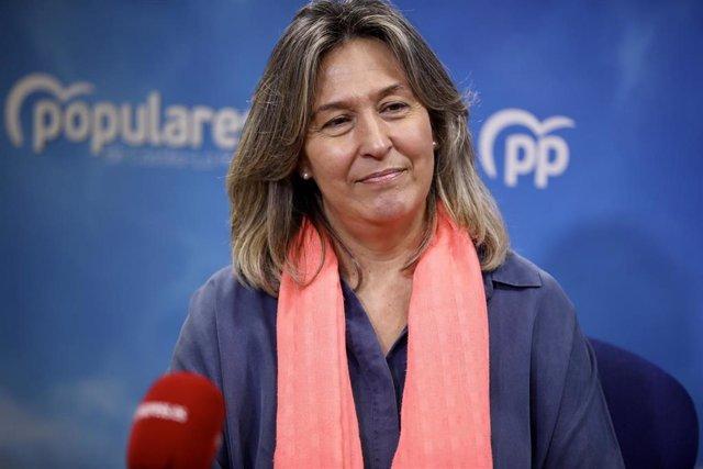Diputada regional del PP Ana Guarinos en una entrevista con Europa Press.