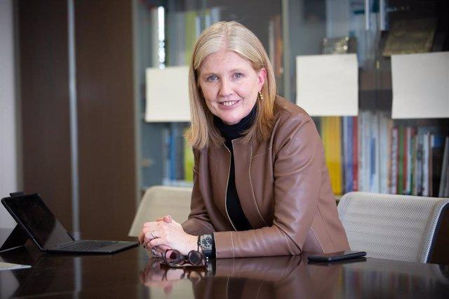 La directora general de Industria de la Generalitat, Matilde Villarroya, en una entrevista de Europa Press