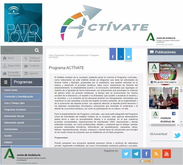 Programa Actívate Junta de Andalucía