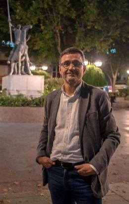 El portavoz de la gestora provisional de Podemos en Castilla-La Mancha, Jorge Uxó, es entrevistado por Europa  Press.