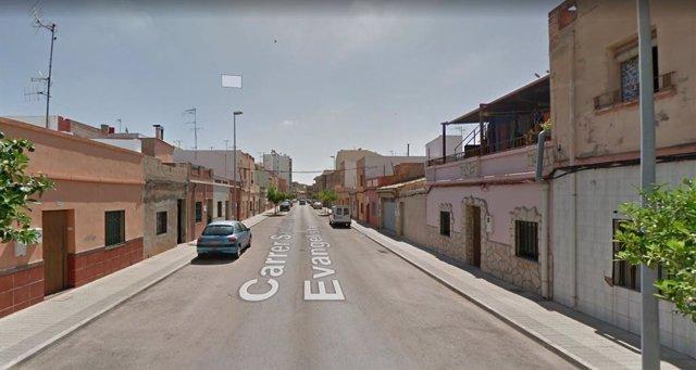 Calle donde se ha producido el incendio