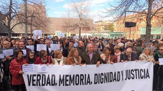 Acto en Pamplona en memoría de las víctimas de ETA