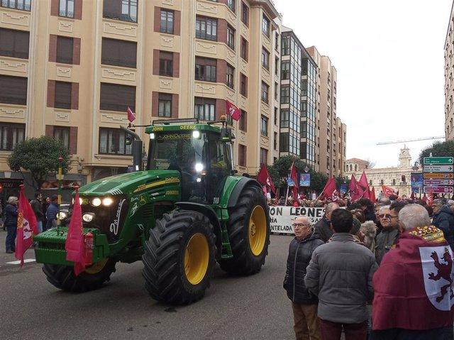 Manifestación por el futuro de León.