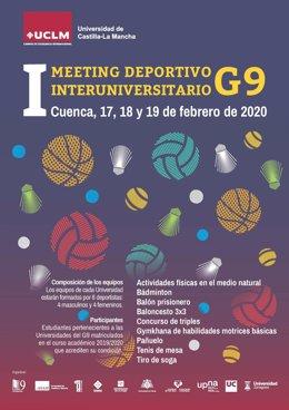Cartel del I Meeting Deportivo Interuniversitario G9