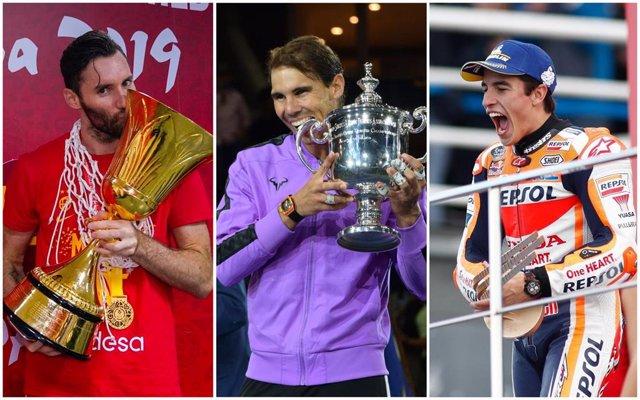 La selección española de baloncesto, Rafa Nadal y Marc Márquez, nominados a los premios Laureus