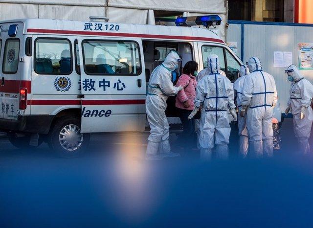 Ambulància de resposta al coronavirus a la Xina