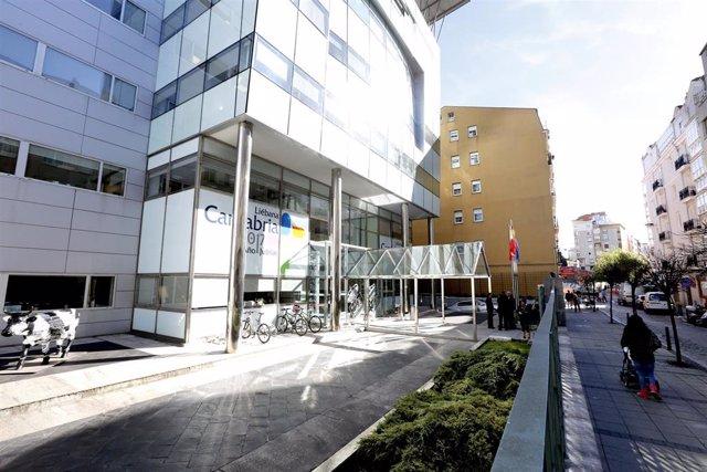 Sede del Gobierno de Cantabria, en la calle Peña Herbosa de Santander