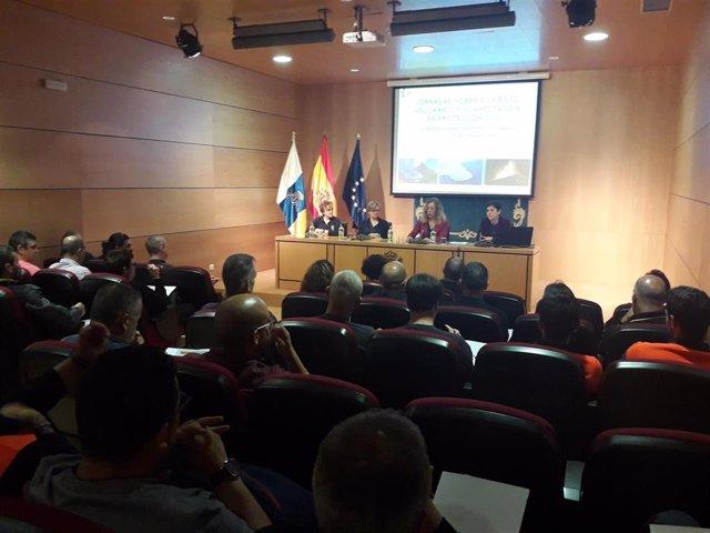 La Delegación del Gobierno reúne a personal de emergencias para analizar el riesgo volcánico para la Protección Civil en Canarias