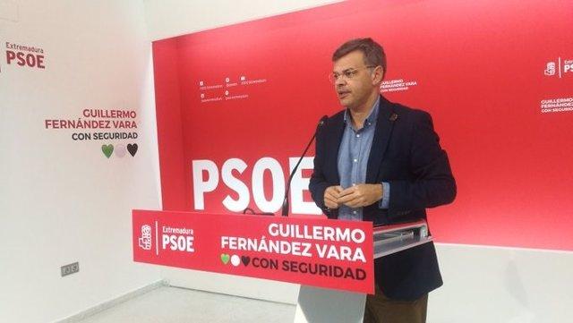 El portavoz socialista, Juan Antonio González