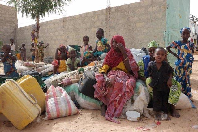 Familia de refugiados nigerianos en Diffa