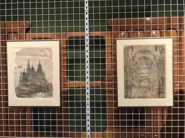Los dibujos de Antoni Gaudí que han ingresado en el Mnac.