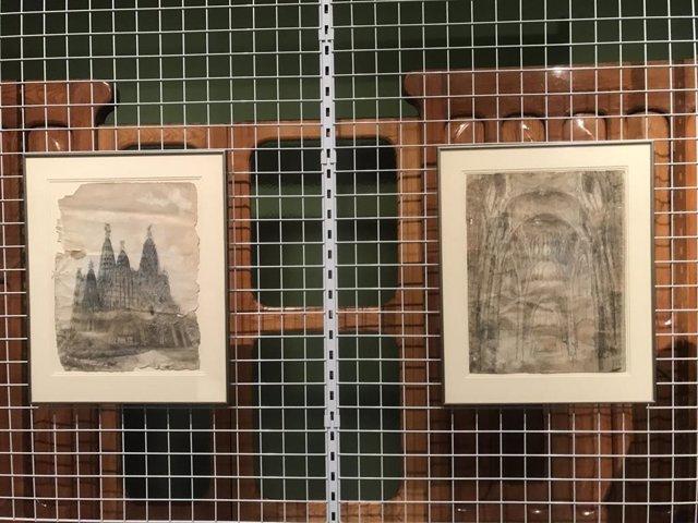 Els dibuixos d'Antoni Gaudí que han ingressat al Mnac.