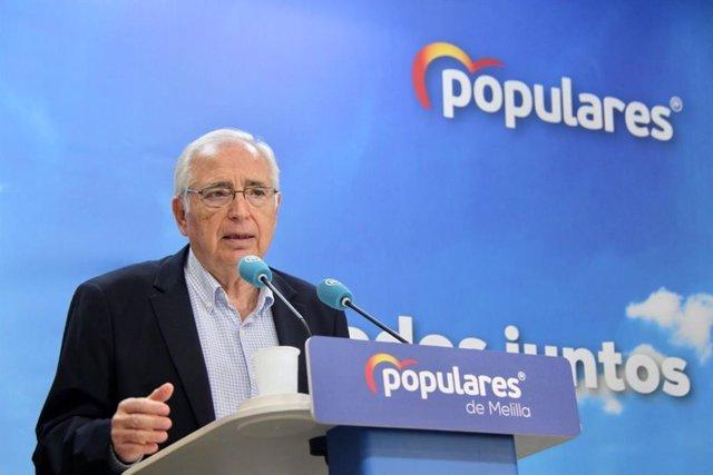 Juan Jose Imbroda, en rueda de prensa
