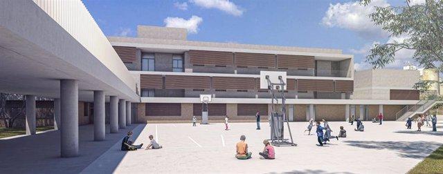 Proyecto del nuevo colegio en Campos.