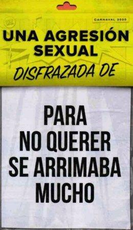 Carteles de la campaña contra el machismo para el carnaval 2020 en Zamora.