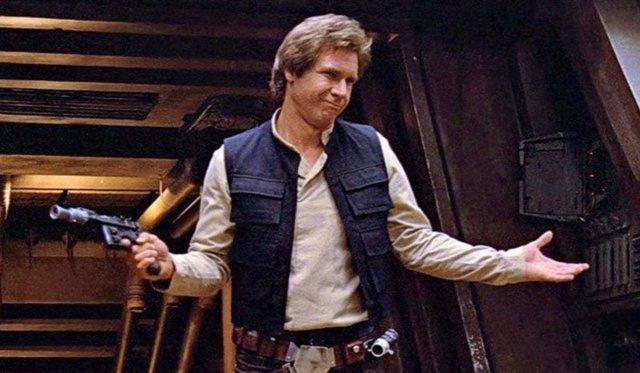 Harrison Ford es Han Solo en Star Wars