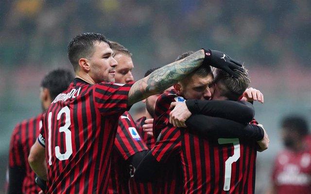Los jugadores del AC Milan