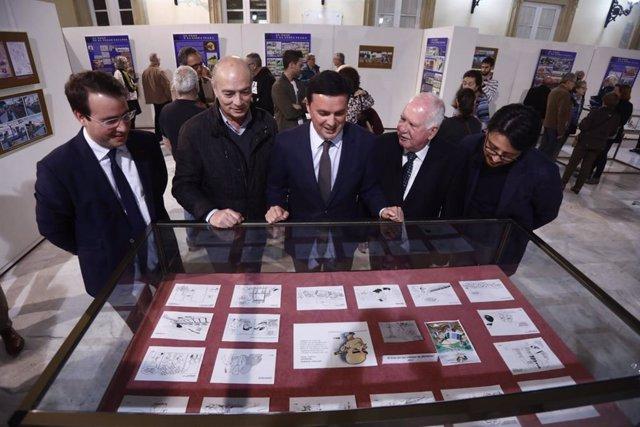 Inauguración de la exposición 'El tren en el cómic' en la Diputación de Almería