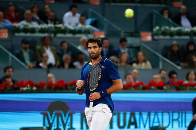 Pablo Andujar during the Mutua Madrid Open, Masters 1000, tennis match played at Caja Magica, Madrid, Spain, between Pablo Andujar and Feliciano Lopez, May 7th, 2018.