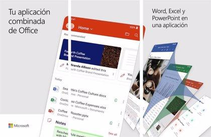 Portaltic.-Microsoft unifica Word, Excel y PowerPoint en su nueva aplicación Office para Android