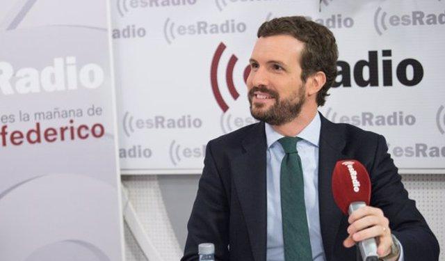 Entrevista al presidente del PP, Pablo Casado