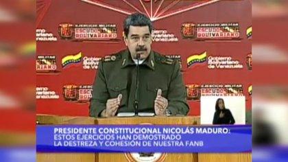 """VÍDEO: Venezuela.- Maduro responde a Trump que no temen defender """"con las armas"""" la paz y la integridad de Venezuela"""