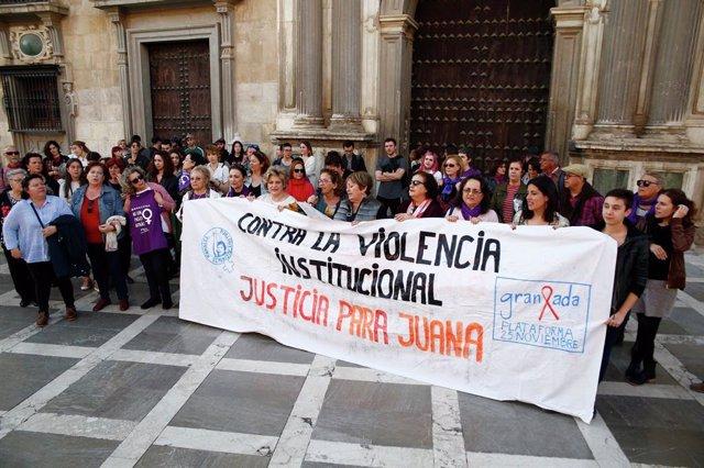 Concentració contra la violència masclista en suport a Juana Rivas